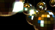 Stock Video Footage of mirrorballs 2