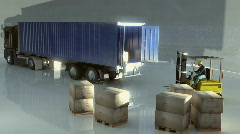 Load lorry Stock Footage