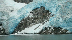 Glacier calving Northwest Alaska P HD 8349 Stock Footage