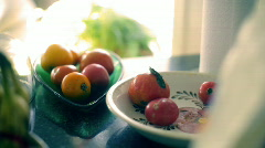 T201 summer vegatables veggies tomatoes Stock Footage