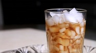 Pouring ice in glass - HD 1920 X 1080 Stock Footage