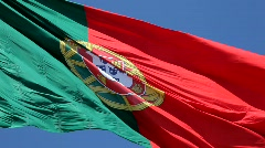 Portuguese Flag   Stock Footage