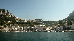 Ship Cruise In Harbour (Capri, Italy) Stock Footage