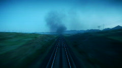 Stock Video Footage time lapse railroad Stock Footage