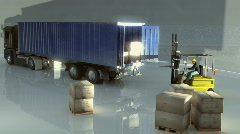 unload lorry - stock footage