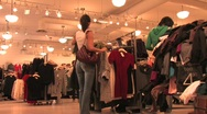 Women Clothes Shopping Stock Footage