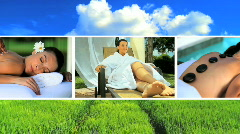 Montage of Massage, Yoga & Relaxation Stock Footage