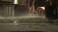 Stock Video Footage of Rainy day at a restaurant, Bulgaria