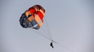 Stock Video Footage of parasailing