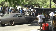 Stock Video Footage of Fast and Furious Fast 5 movie take rehearsal behind the scenes look