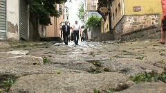 Downtown Plovdiv Bulgaria Stock Footage