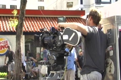 Fast and Furious Fast 5 movie - Idle cameraman before take Stock Footage