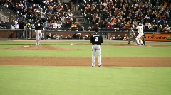 San Francisco Giants Baseball Game - stock footage