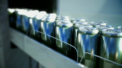Conveyer CANS Stock Footage