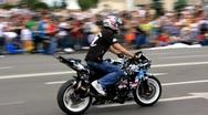 Motorbike show Stock Footage