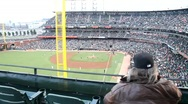 Stock Video Footage of Giants Baseball Spectator