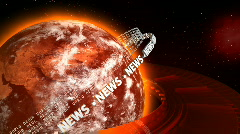 Hot Earth with News Streams - Earth 44 (HD) Stock Footage