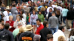 Crowd of People (Soft Focus) Stock Footage