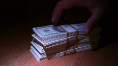 Dirty money  Stock Footage