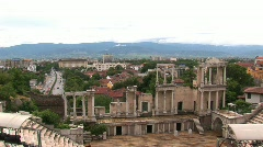 Amphitheatre of Plovdiv, Bulgaria Stock Footage