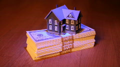 House and banknotes Stock Footage