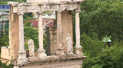 Stock Video Footage of Amphitheatre of Plovdiv, Bulgaria