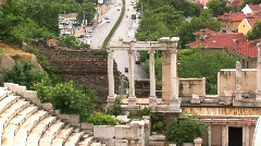 Roman Theater Plovdiv, Bulgaria Stock Footage