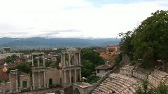 Amphitheatre of Plovdiv - stock footage