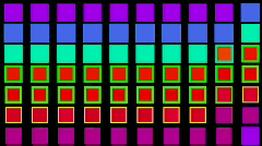 Square neon light array matrix background,cube big data database backdrop. Stock Footage