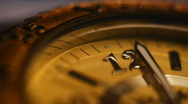 Arrows of hours close-up Stock Footage