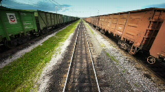 View from locomotive 1 Stock Footage