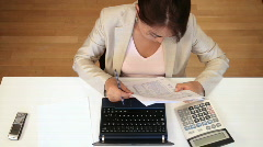 Working at the desk Stock Footage