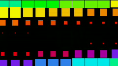 Vj square neon light array matrix background&cube big data database backdrop. Stock Footage