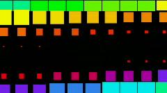 Vj square neon light array matrix background&cube big data database backdrop. Stock Footage