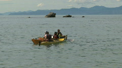 Canoeing at the Golden bay, New-Zealand Stock Footage