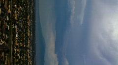 Vertical - monsoon storm 2010 Tucson AZ - 1 - buildup over city Stock Footage