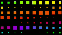 Vj square neon light array matrix background,cube big data database backdrop. Stock Footage