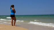 Beautiful seashore (editorial clip) Stock Footage