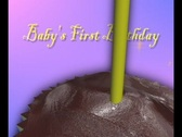 4730 Baby's first birthday Stock Footage