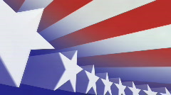 Stars and Stripes Looping Background (clean) Stock Footage