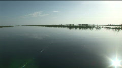 Sunny Lake Okeechobee Channel Stock Footage