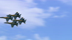 6 shots Blue Angels Montage Stock Footage