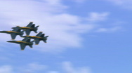 Stock Video Footage of 6 shots Blue Angels Montage