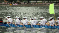Dragon boat races in HongKong Stock Footage