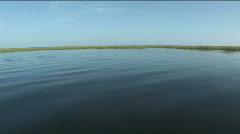 Ride Into Grass on Lake Okeechobee Stock Footage