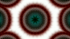 Animation of brown fancy pattern.pearl,lotus.Buddhism Mandala flower,kaleidoscop Stock Footage