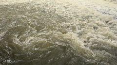 Raging river vortex Stock Footage
