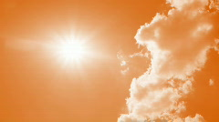 Clouds disappear in the hot sun on sky Stock Footage