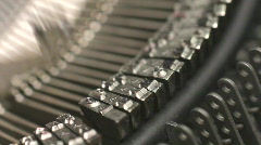 Typing. Old manual typewriter with type key movement. Stock Footage