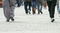 Crowds People Pedestrians - stock footage